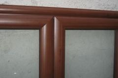 Finestra in alluminio finto legno