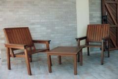 Set sedie e tavolino da esterno